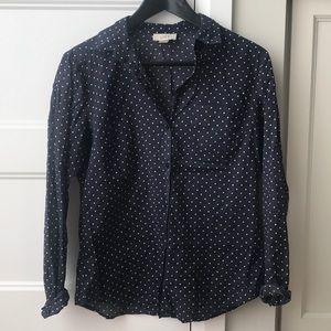 The Loft Polka Dot blouse